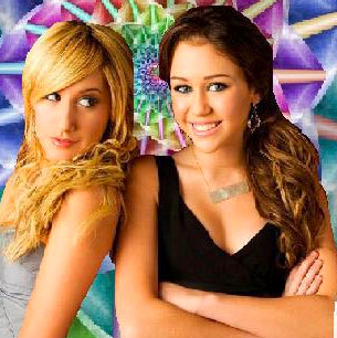 Hannah Montana's Miley Cyrus and Yayme londontipton's Ashley Tisdale